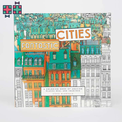 Kleurenboek Fantastic Cities Large Colouring Book - Gift Doctors - 1
