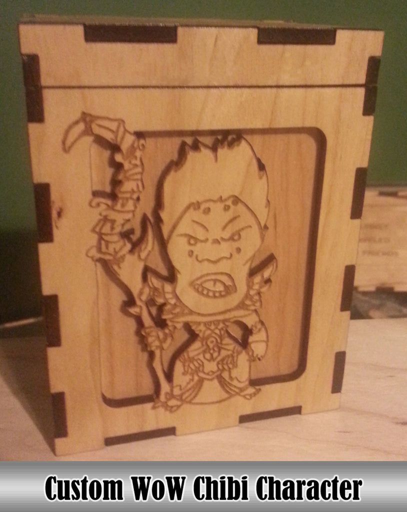 Custom Chibi WoW Character Deck Box