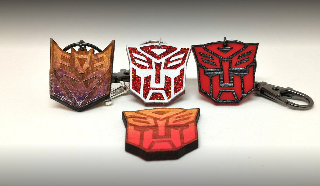 Transformers Autobots and Decepticons Keychains