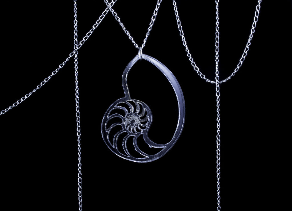 Translucent Trilobite Necklace | Clear Acrylic and Silver Plated Chain