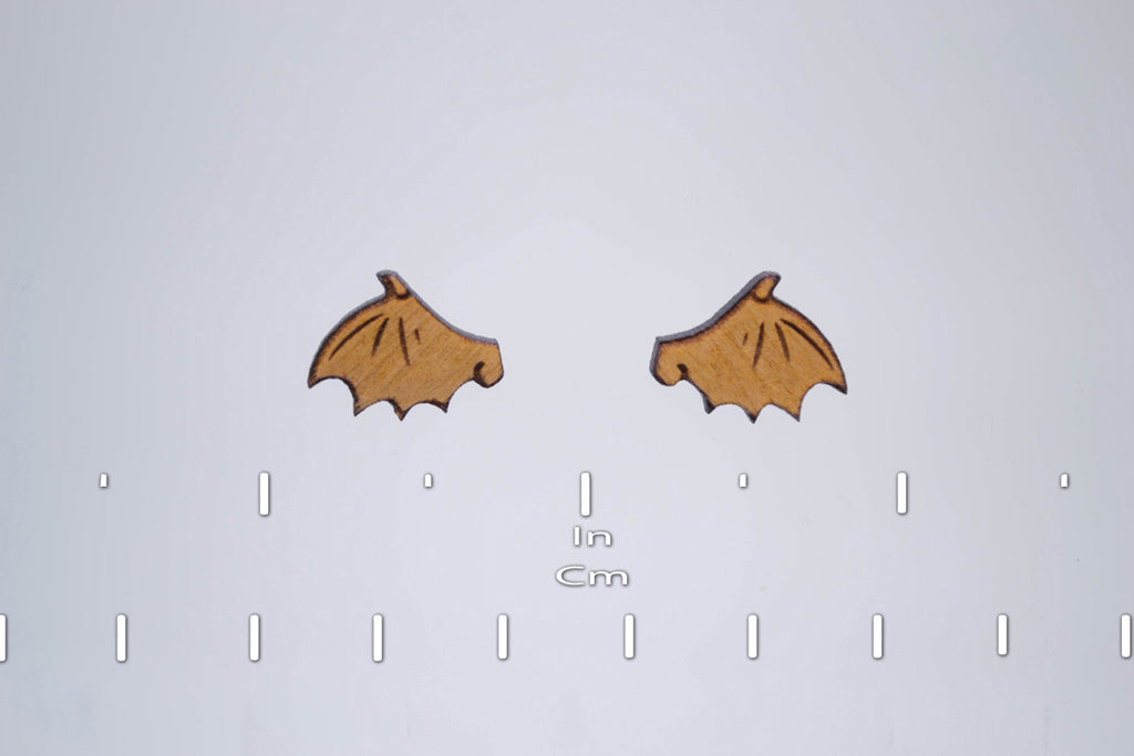 Cute Demon Wing Earring Studs