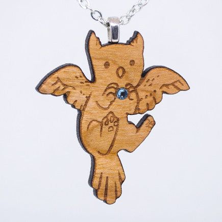 Cute Gryphon Necklace - Wooden Necklace