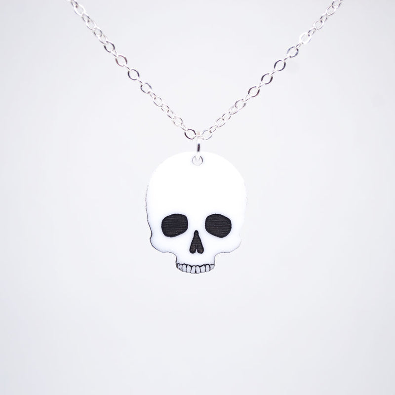 Halloween Human Skull Necklace - Acrylic Necklace