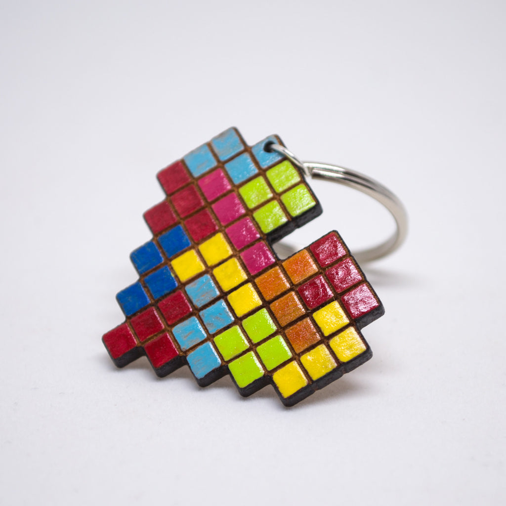 Tetris Video Game Keychain