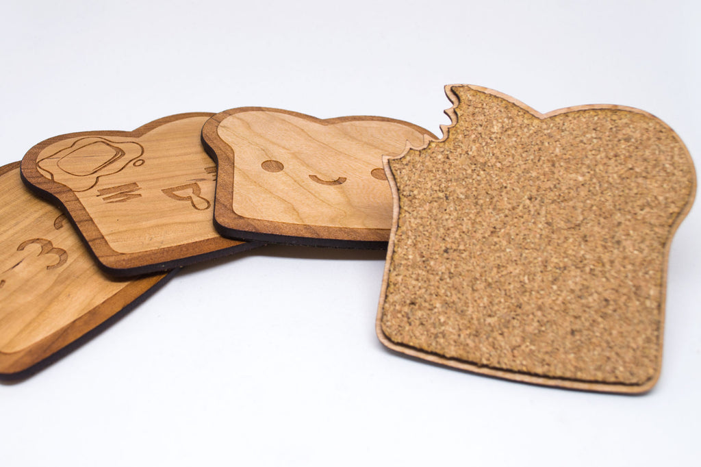 Cute Emoticon Toast Coasters