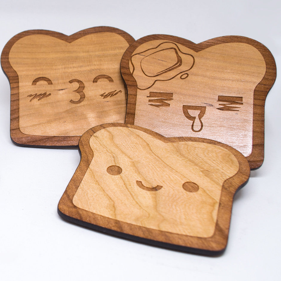 Toast Coasters with Cork