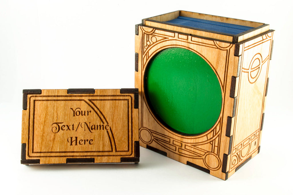 Unique Art Deco Handmade MTG Card Box