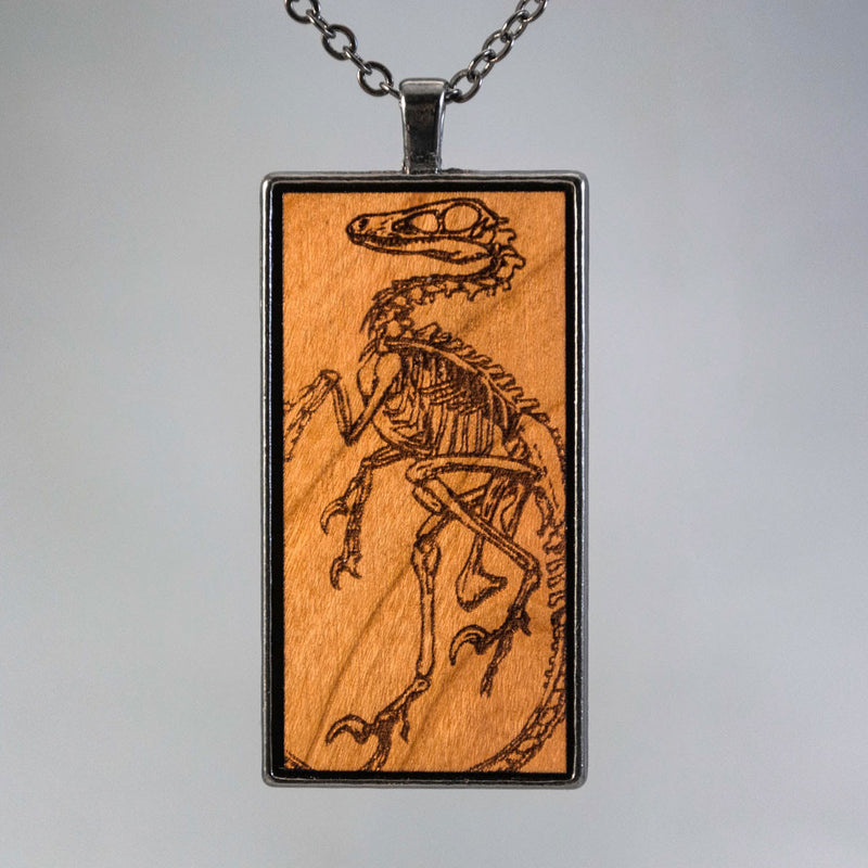 Velociraptor Skeleton Fossil Necklace