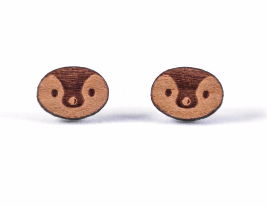 Penguin Face Earrings - Hypoallergenic Posts