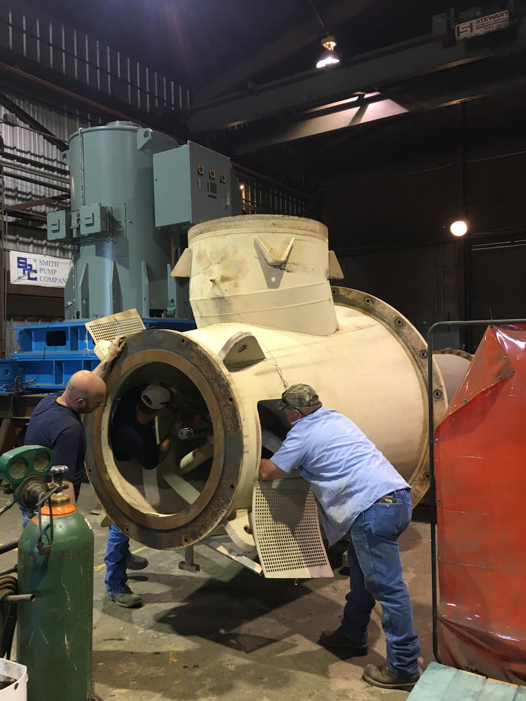 Large Vertical Lineshaft Turbine Pump Disassembly