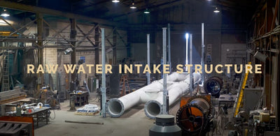 Raw Water Intake Structure - A Demonstration of the Jacking Support and Hydraulic System - Timelapse