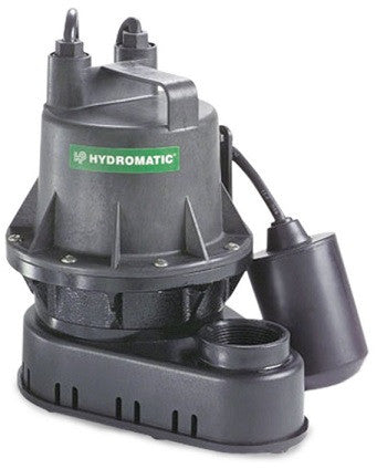 Hydromatic Pump :: Model B-A1 Submersible Effluent Sump Pump 1/4HP 115V 1PH Automatic 10' Cord