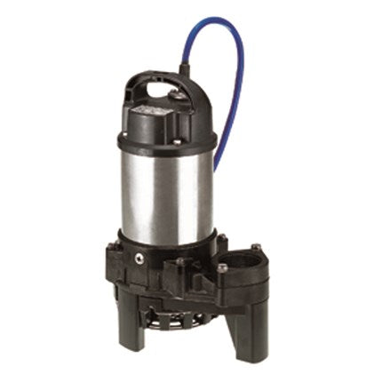 "Tsurumi Pump Company :: Model 80TM21.5-230 Submersible Raw Sewage Pump :: 2HP/230V/3Ph, 3""-titanium impeller"