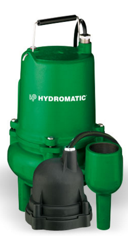 Hydromatic Pump :: Model SP40ACI1  Submersible Sewage Pump 4/10HP 115V 1PH Automatic 20' Cord