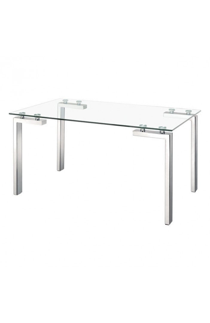 Zuo Roca Dining Table Polished Stainless Steel