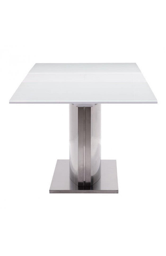 Zuo Pierrefronds Extension Dining Table In White