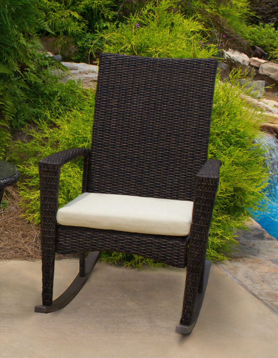 bayview all weather wicker rocking chair set tortuga outdoor