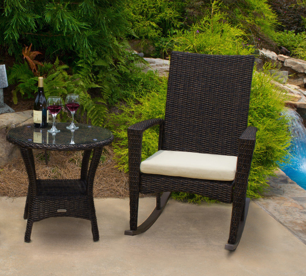 Bayview All Weather Wicker Side Table   Tortuga Outdoor ...
