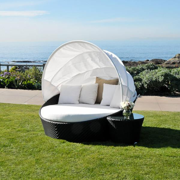 ... Caluco Dijon Round Daybed With Canopy ...