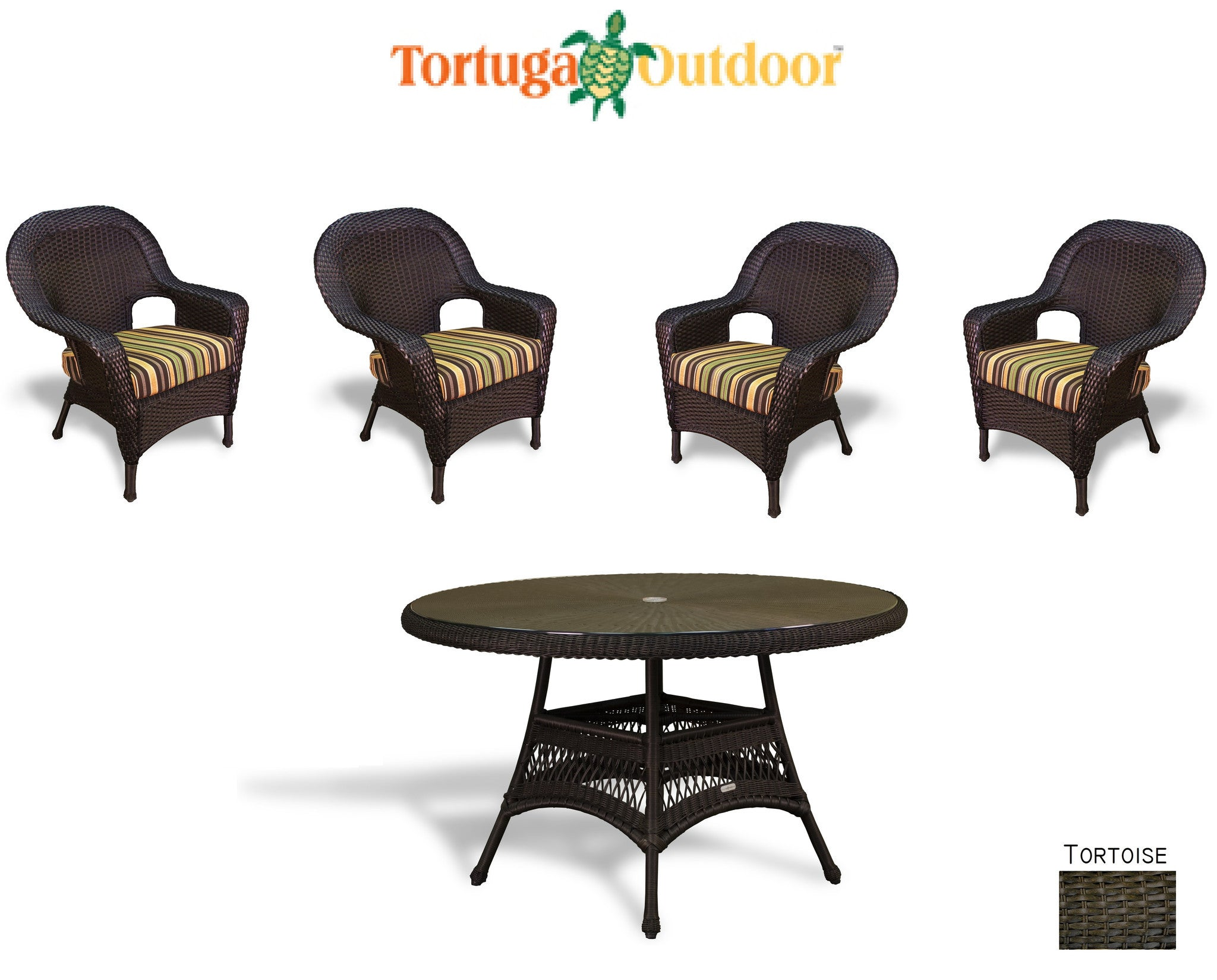 ... The Lexington 5 Piece All Weather Wicker Dining Set   Tortuga Outdoor  ...