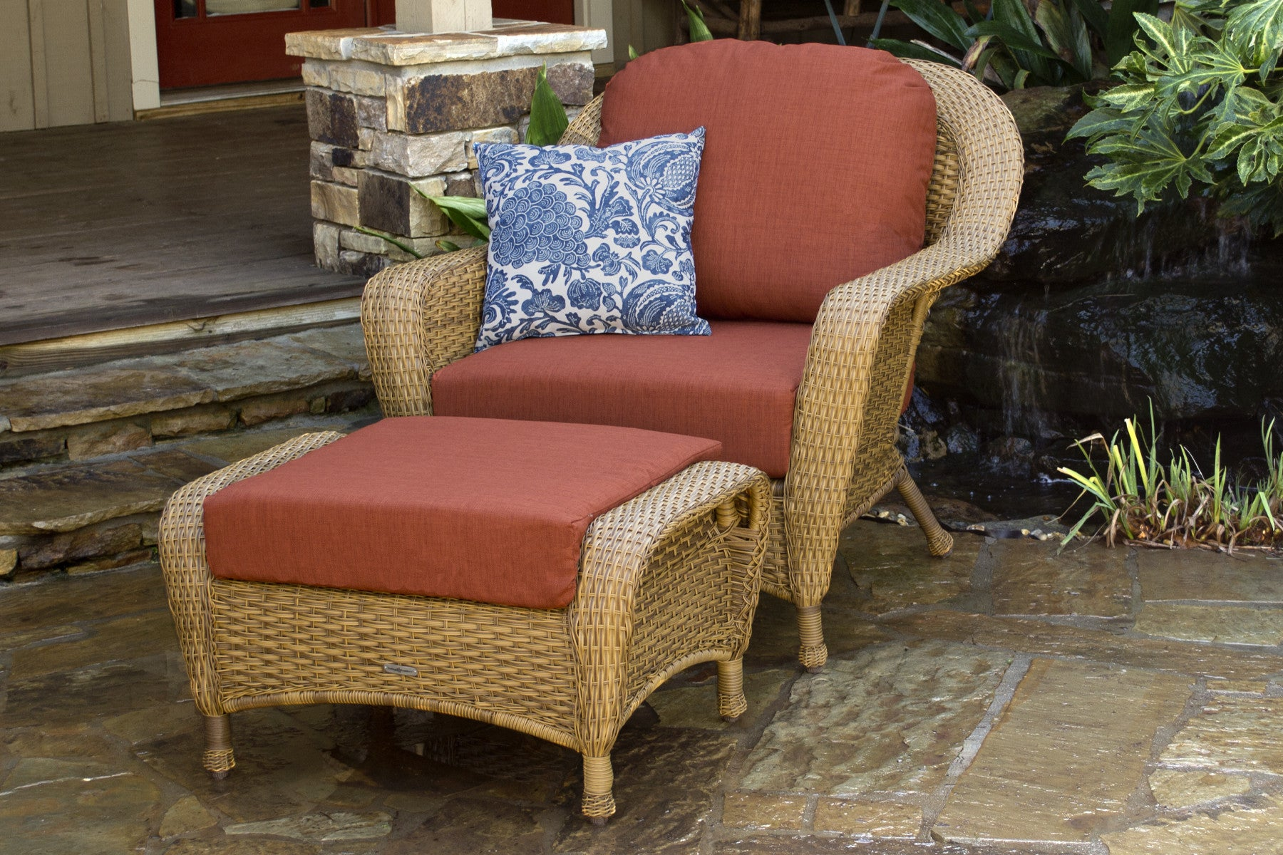 the lexington 6piece all weather wicker deep seating loveseat set tortuga outdoor