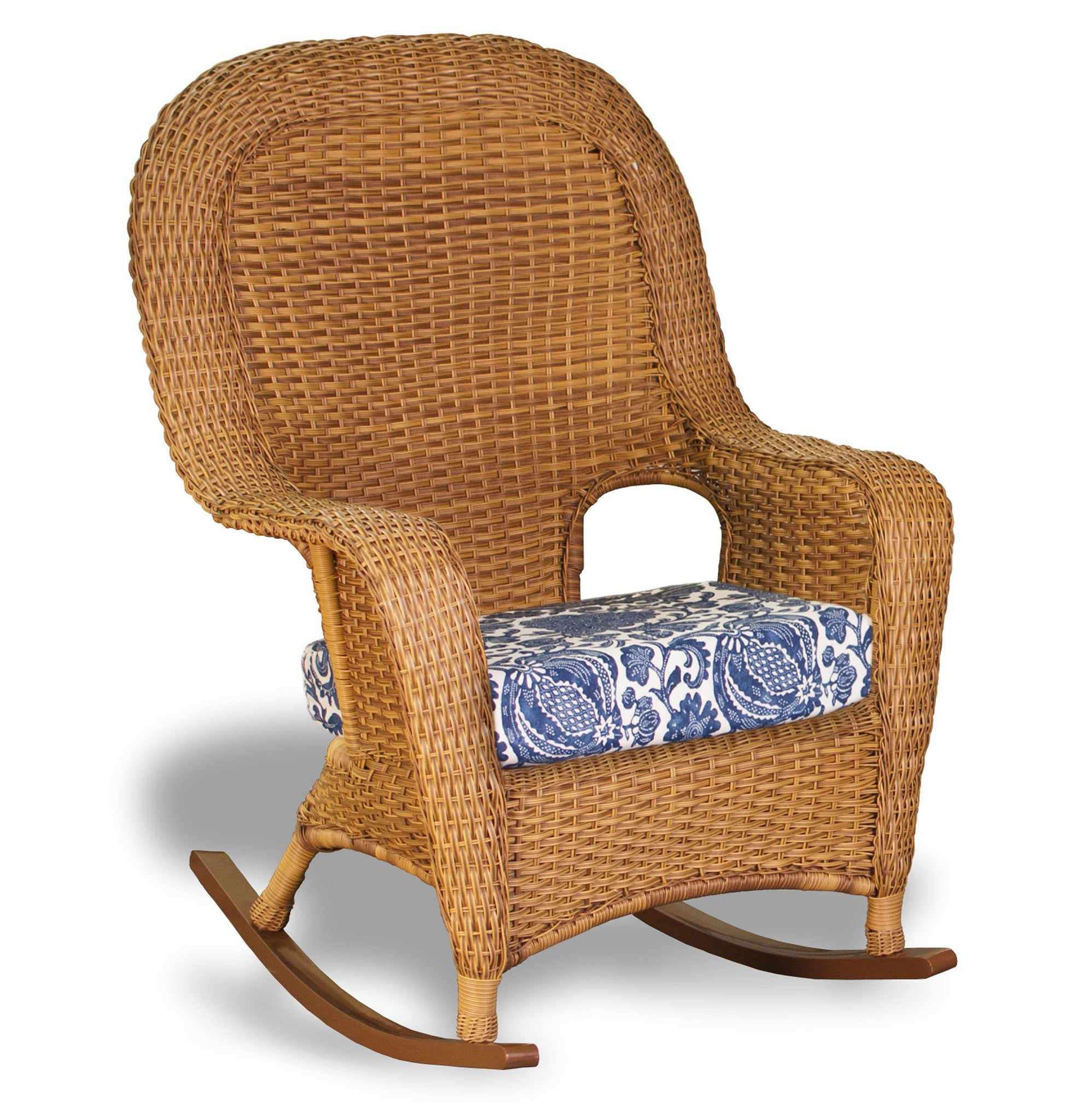 haven b brown rocking depot bay all wicker spring the outdoor sky n home with chairs blue weather furniture hampton cushion chair patio outdoors