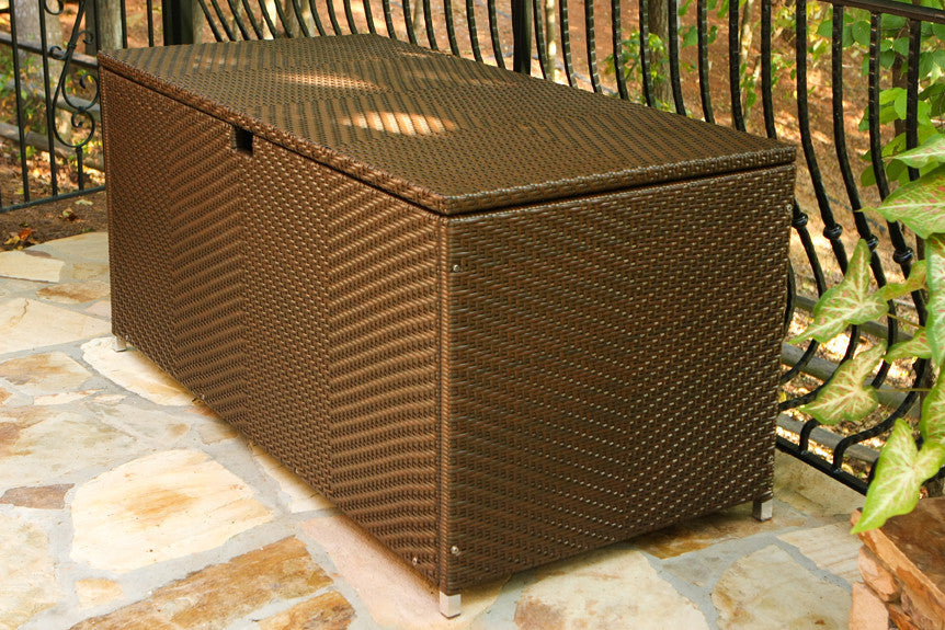 Perfect ... The Lexington All Weather Large Wicker Storage Box   Tortuga Outdoor ...
