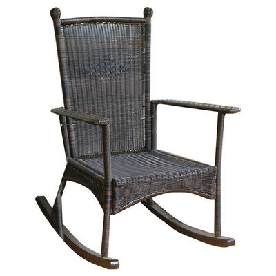 The Portside Classic All Weather Wicker Rocking Chair Tortuga