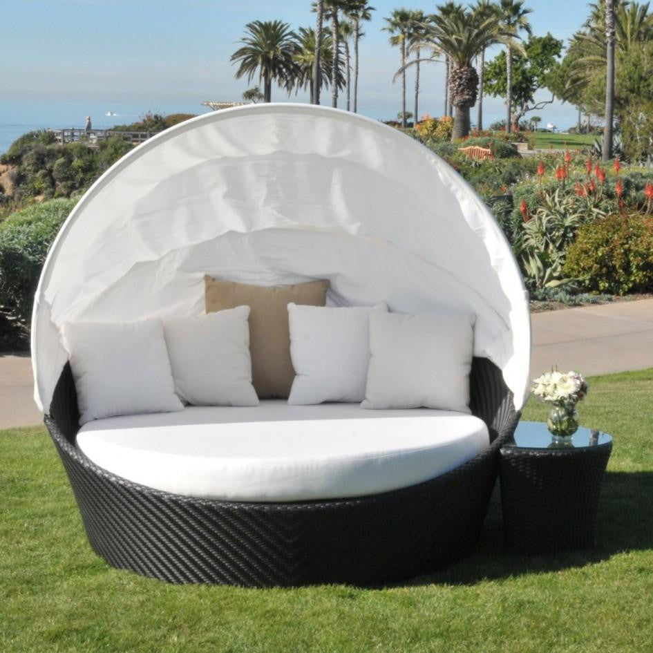 Elegant ... Caluco Dijon Round Daybed With Canopy ...