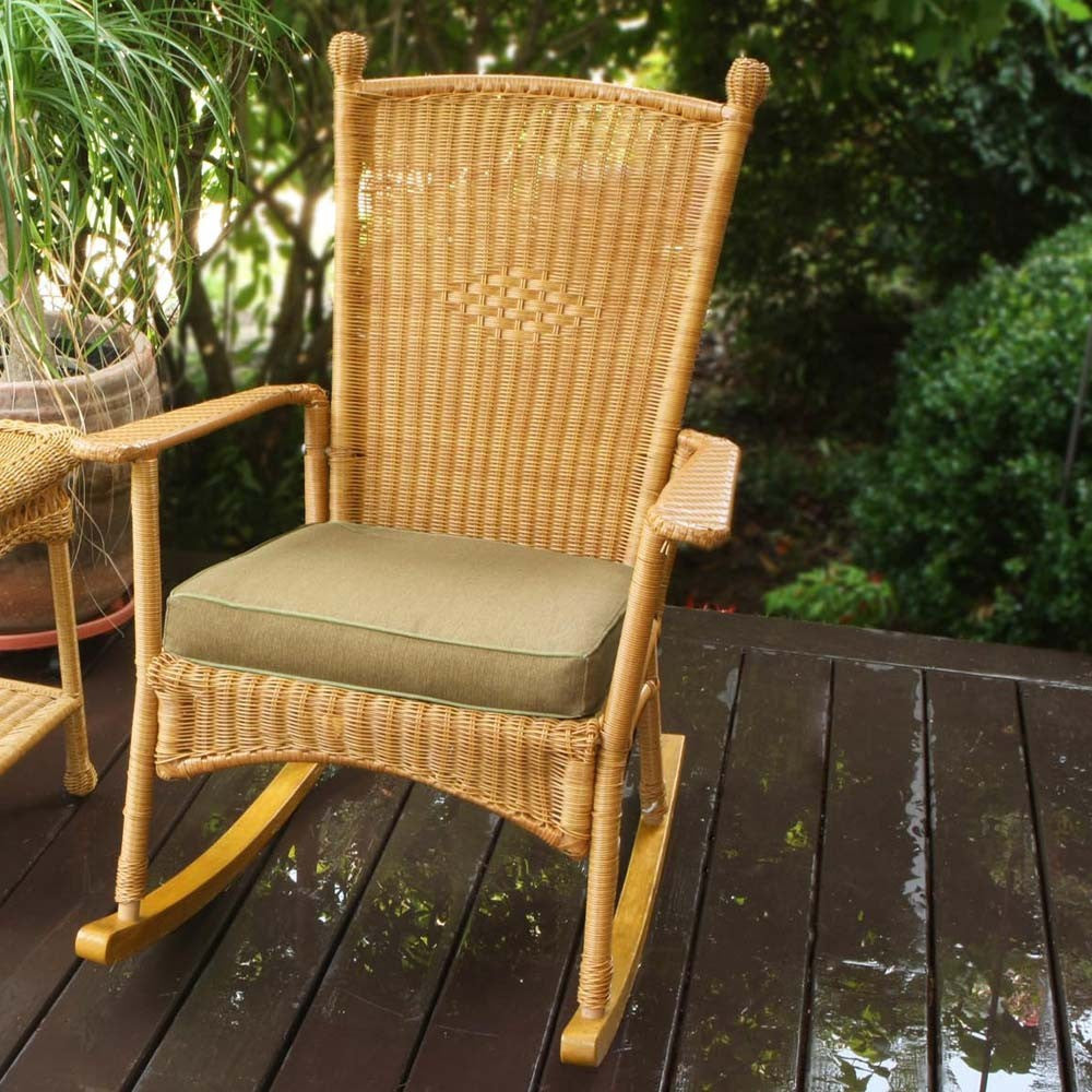 ... The Portside Classic All Weather Wicker Rocking Chair   Tortuga Outdoor  ...