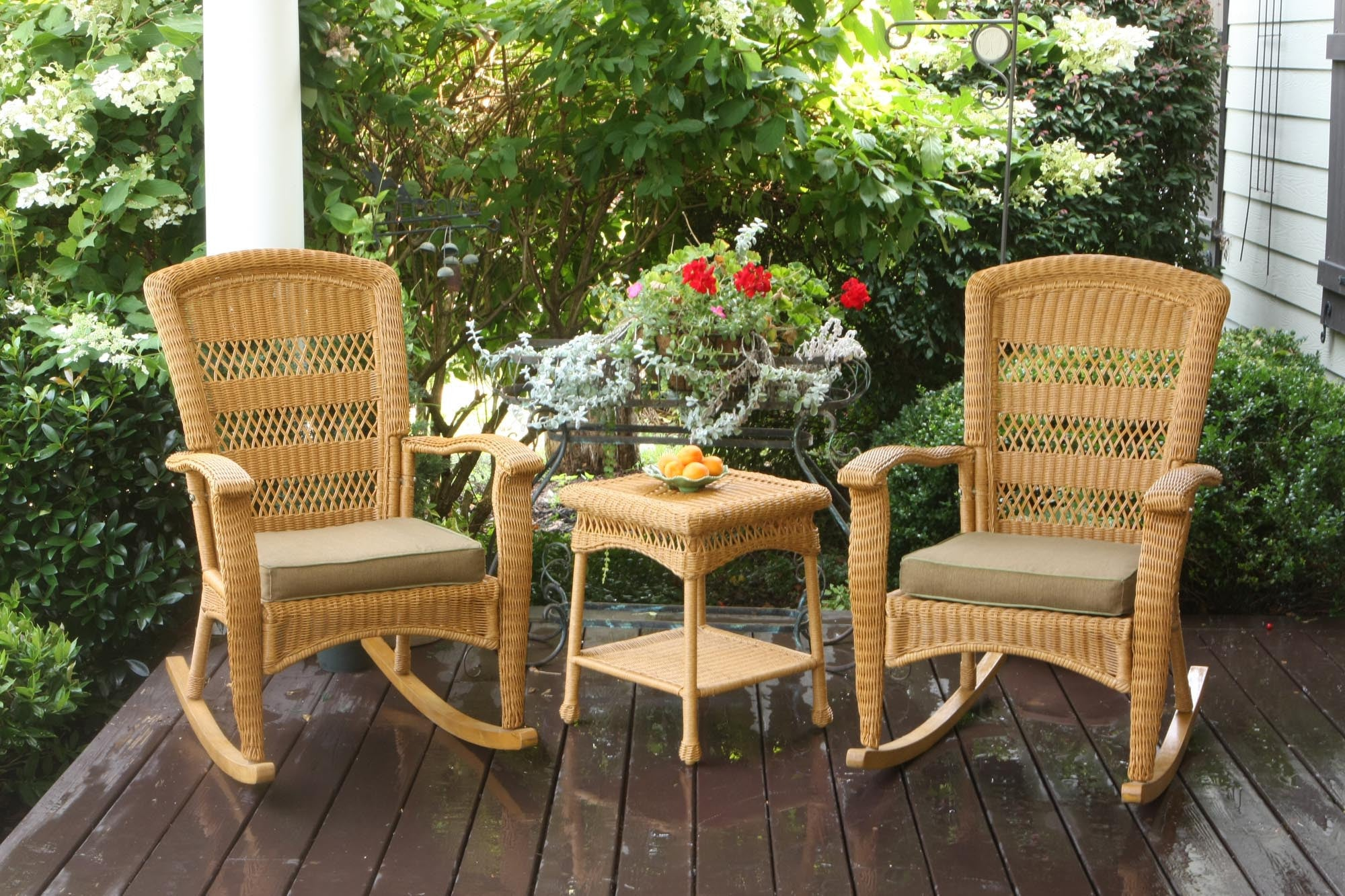 ... The Portside Plantation All Weather Wicker Rocking Chair Set   Tortuga  Outdoor ...