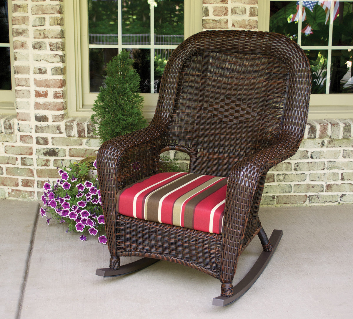 The Sea Pines All Weather Wicker Rocking Chair Tortuga Outdoor