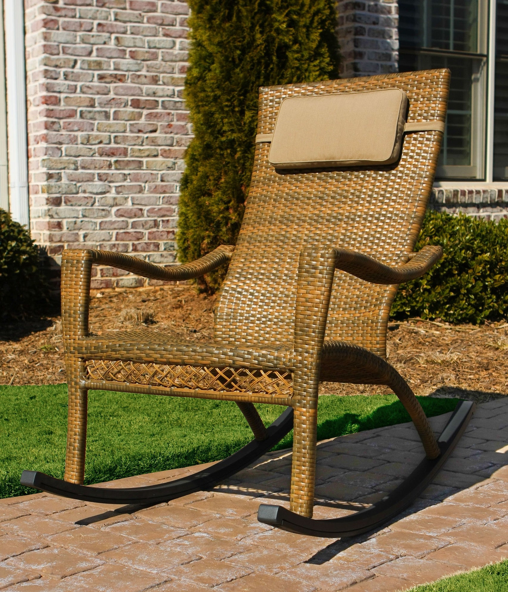 Maracay All Weather Wicker Rocking Chair Tortuga Outdoor Home