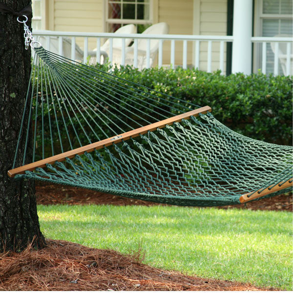 outdoor stand dp com person hammocks quilted garden blue white large and hammock amazon two