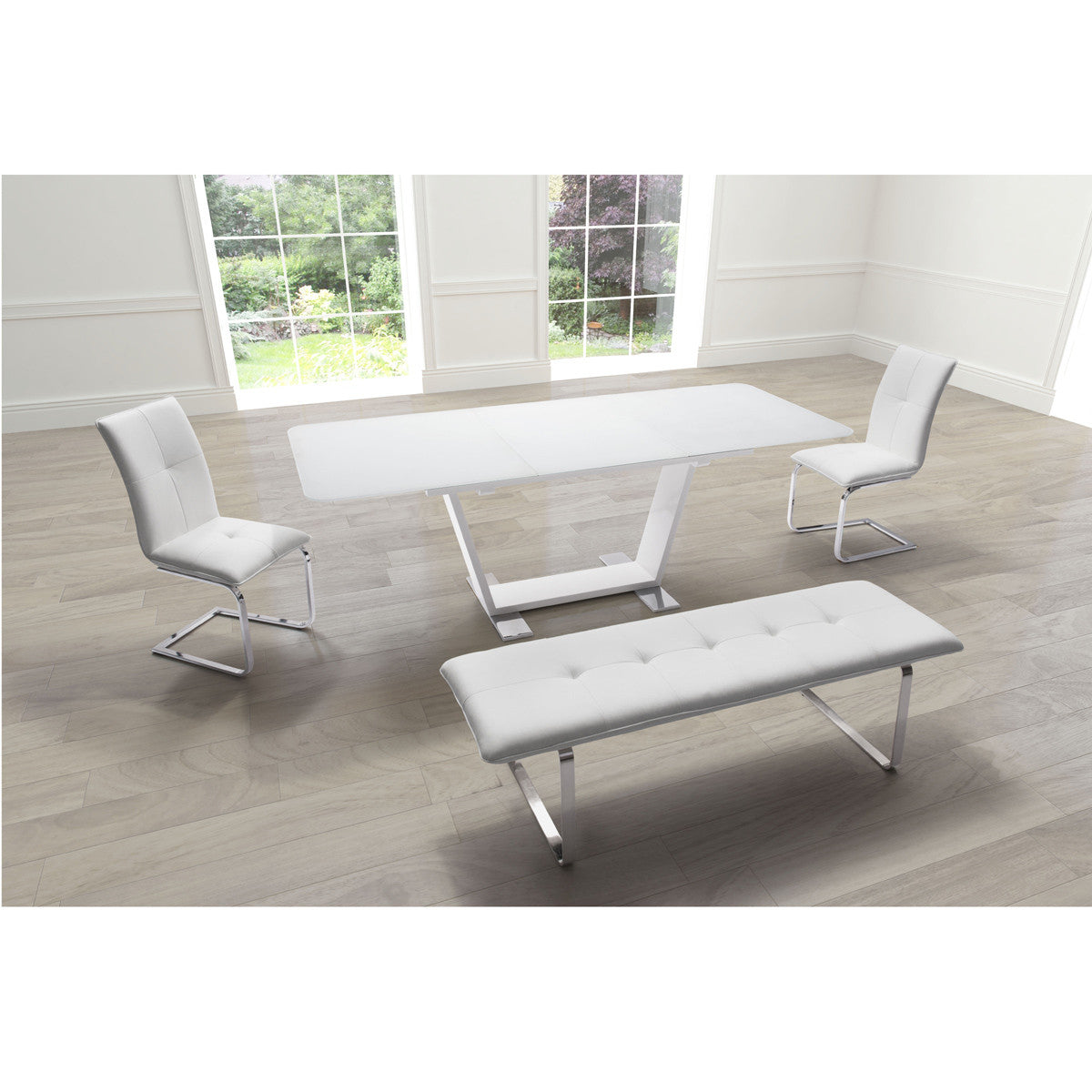 White Extension Dining Table Dining Tables Home Patio Living