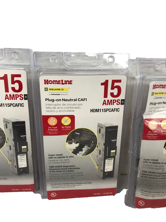 Homeline HOM115PCAFIC Plug-On Neutral 15 Amp Single-Pole CAFCI ...