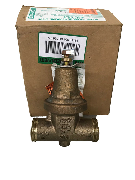 Zurn Wilkins 70XLDU Pressure Reducing Valve- (3/4-1