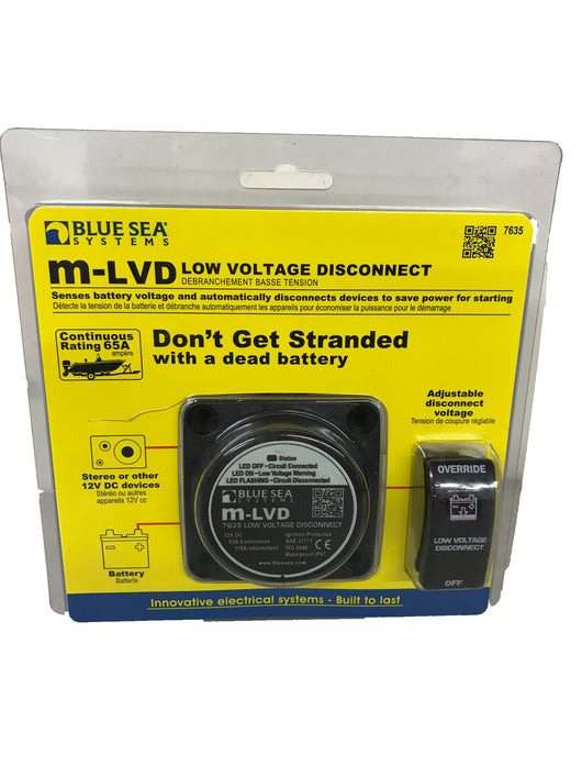 Blue Sea Systems m-LVD Low Voltage Disconnect - 24OurStore