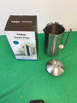 Frieling Double Wall Stainless Steel French Press Coffee Maker- 44oz