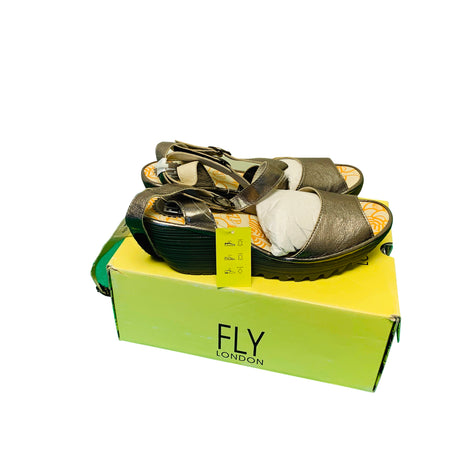 FLY London YISK837FLY Wedge Sandal - Wilkerson Trading
