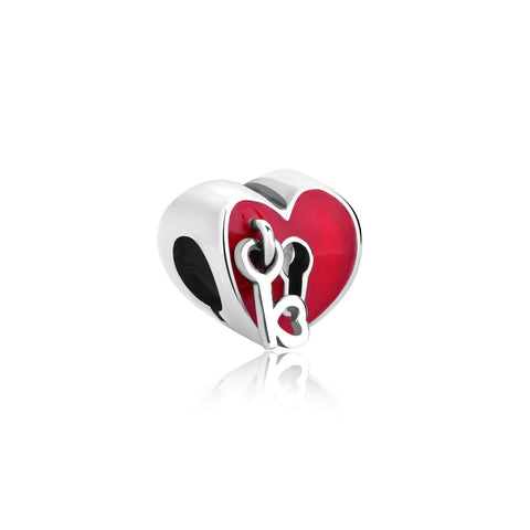 Key To My Heart Enamel Bella & Beau Bead