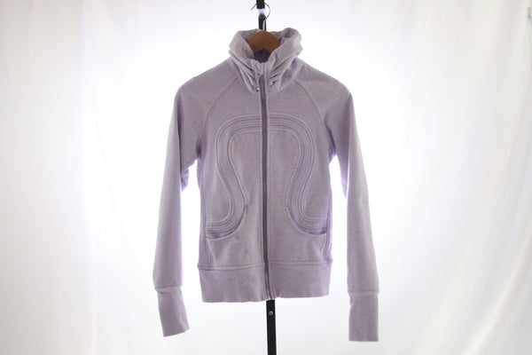 Women's Lululemon Fleece Lined Full Zip Sweatshirt - Size 4
