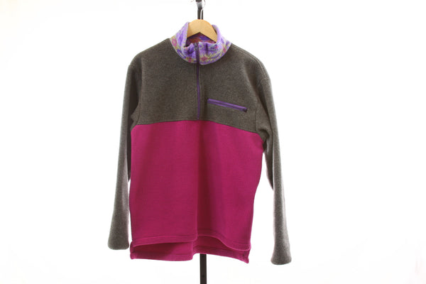 Women's Vintage Burton 1/4 Zip Heavy Polartec Fleece - Size Large