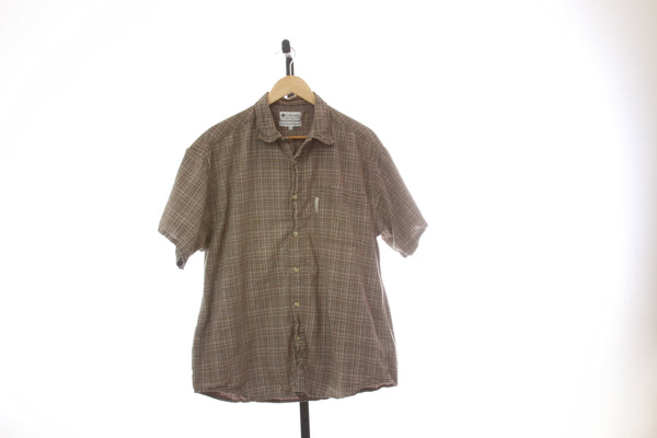 Men's Columbia Short Sleeve Button Down Shirt - Size X-Large