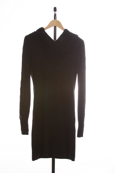 Women's Athleta Hooded Knit Sweater Dress - Size Medium