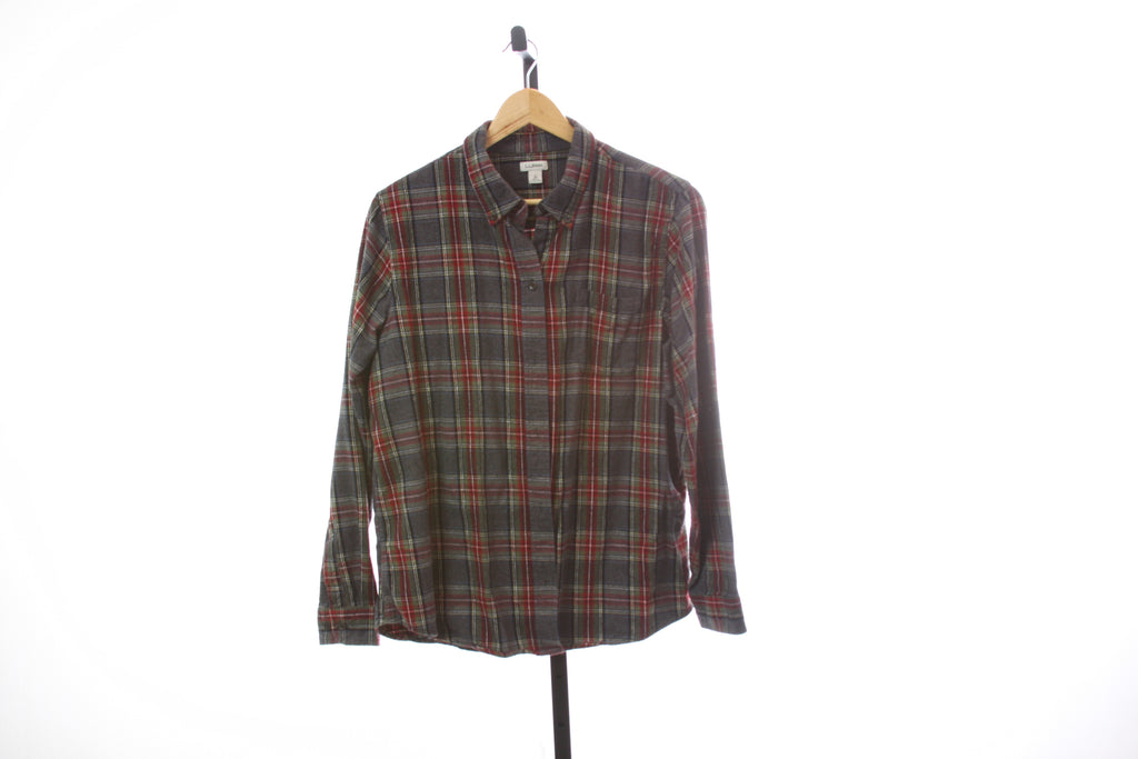 Women's L.L. Bean Flannel Shirt - Size Large