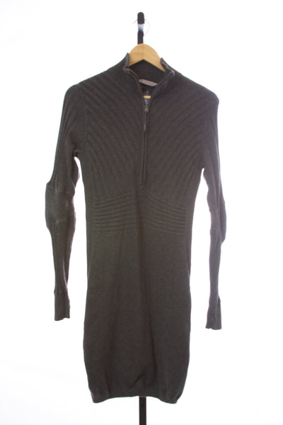 Women's Athleta Zip Front Sweater Dress - Size Medium