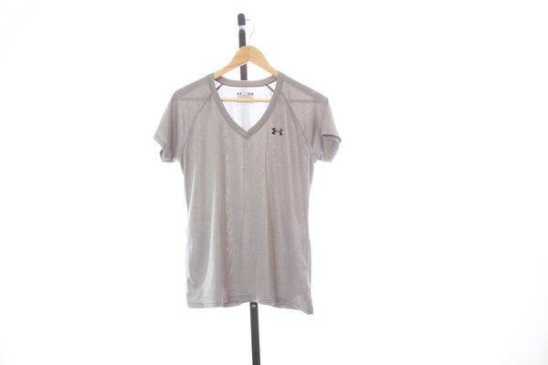 Women's Under Armour Heat Gear V-Neck Synthetic T-Shirt - Size Medium