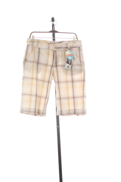 Women's BRAND NEW Columbia Omni-Dry Loretta Plaid Shorts - Size 8
