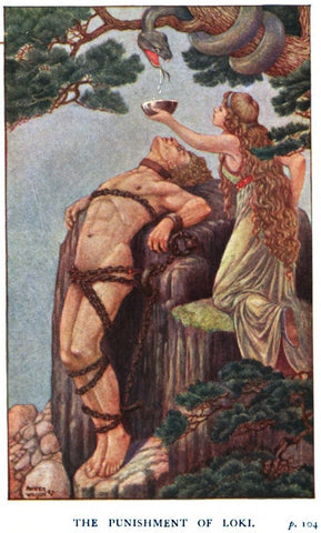 punishment of loki, thomas cartwright, mythology, norse mythology